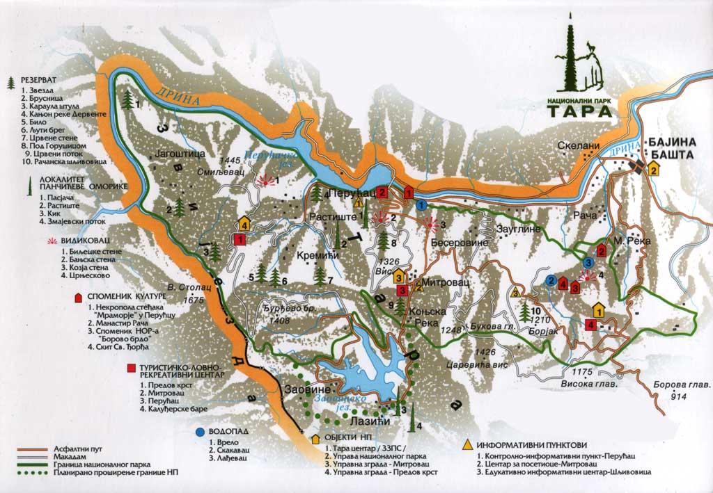 devojački park beograd mapa Tara planina   Nacionalni park